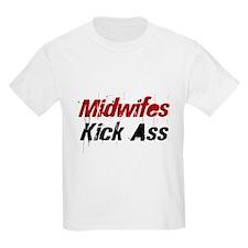 Midwifes Kick Ass Kids T-Shirt