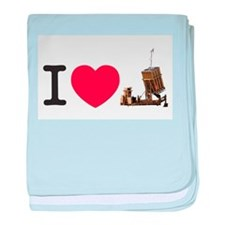I Love Iron Dome Shirt baby blanket