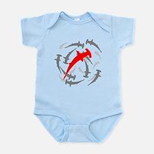 Circling Hammerhead Sharks Infant Bodysuit