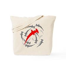 Circling Hammerhead Sharks Tote Bag