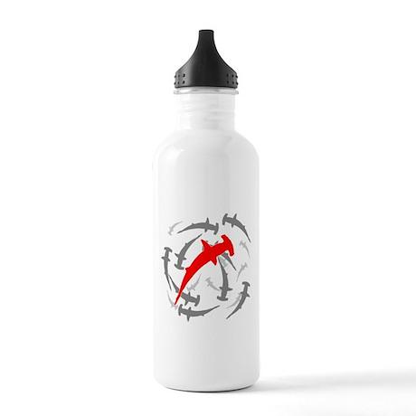 Circling Hammerhead Sharks Stainless Water Bottle