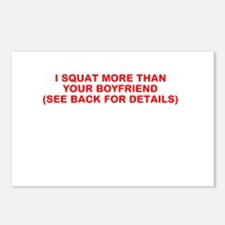 I SQUAT MORE THAN YOUR BOYFRIEND Postcards (Packag