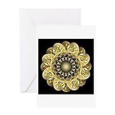 Golden Flower Greeting Card