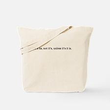 Funny English grammar Tote Bag