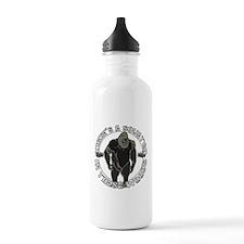 Sqautch in woods Water Bottle