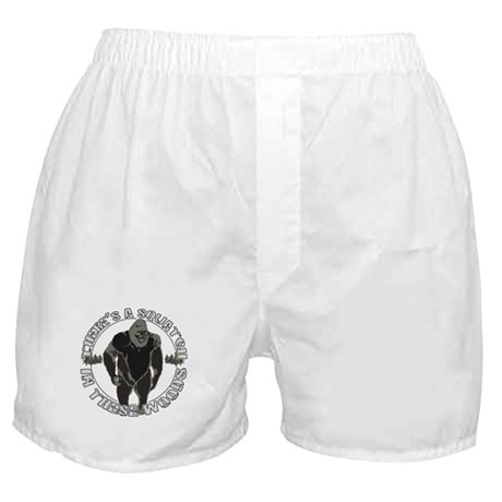 Sqautch in woods Boxer Shorts