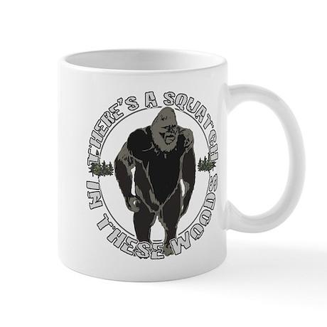 Sqautch in woods Mug