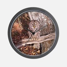 Owl on a Branch Wall Clock