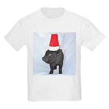 Santa micro pig square design T-Shirt