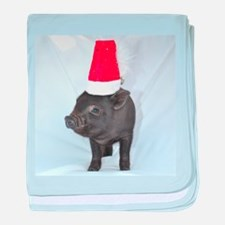 Santa micro pig square design baby blanket