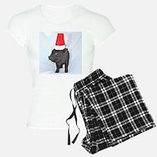 Santa micro pig square design Pajamas