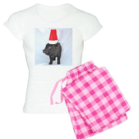Santa micro pig square design Women's Light Pajama