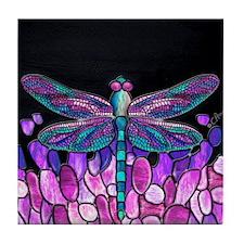 Cute Dragonfly Tile Coaster
