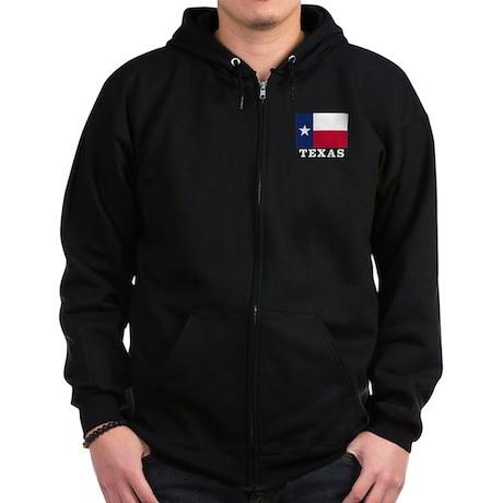 Texas Flag - TX Zip Hoodie (dark)