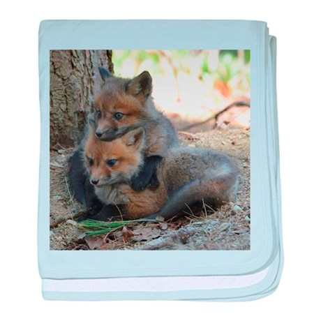 Baby red fox baby blanket