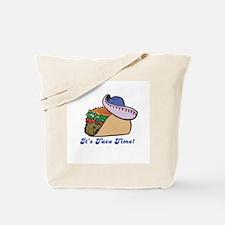 Taco Time (Taco with Sombrero) Tote Bag
