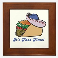 Taco Time (Taco with Sombrero) Framed Tile