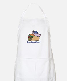 Taco Time (Taco with Sombrero) BBQ Apron