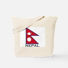 Nepal Flag Stuff Tote Bag