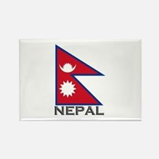 Nepal Flag Stuff Rectangle Magnet