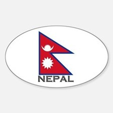 Nepal Flag Stuff Oval Decal