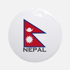 Nepal Flag Stuff Ornament (Round)
