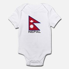 Nepal Flag Stuff Infant Bodysuit