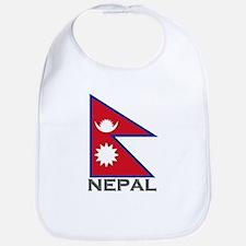 Nepal Flag Stuff Bib