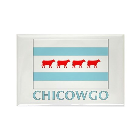 Chicowgo - Chicago Rectangle Magnet