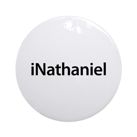 iNathaniel Round Ornament