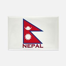 Nepal Flag Gear Rectangle Magnet