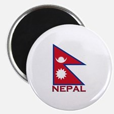 Nepal Flag Gear Magnet