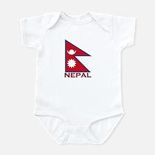 Nepal Flag Gear Infant Bodysuit