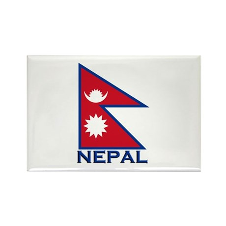 Nepal Flag Merchandise Rectangle Magnet