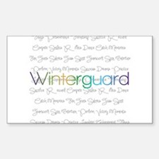 Winterguard Sticker (Rectangle)