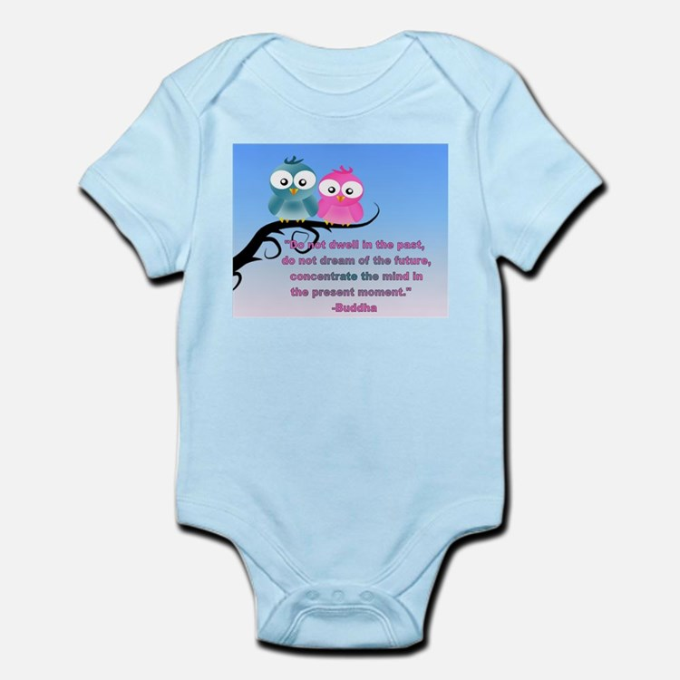 Cute Owls in the present moment buddha Infant Body
