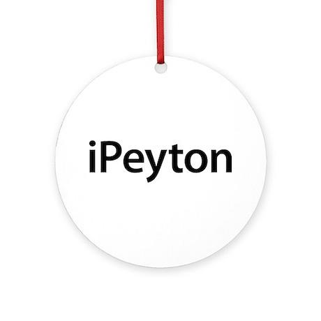 iPeyton Round Ornament