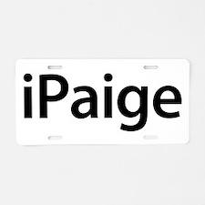 iPaige Aluminum License Plate