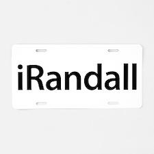 iRandall Aluminum License Plate