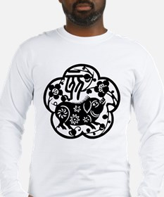 Year of The Pig Paper Cut Long Sleeve T-Shirt