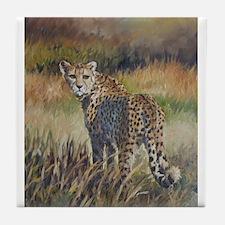 Cheetah wild animal Tile Coaster