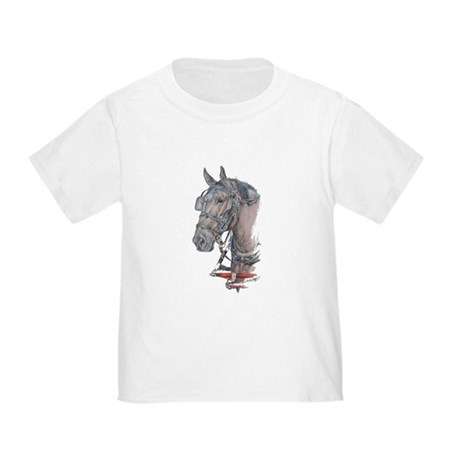 Percheron Draft horse harness Toddler T-Shirt