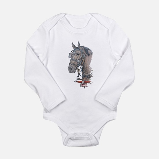 Percheron Draft horse harness Long Sleeve Infant B