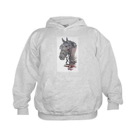 Percheron Draft horse harness Kids Hoodie