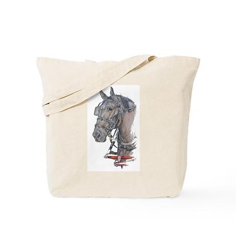 Percheron Draft horse harness Tote Bag