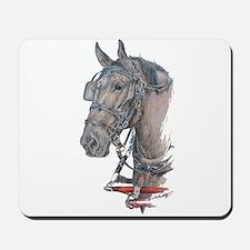 Percheron Draft horse harness Mousepad