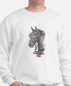 Percheron Draft horse harness Sweatshirt