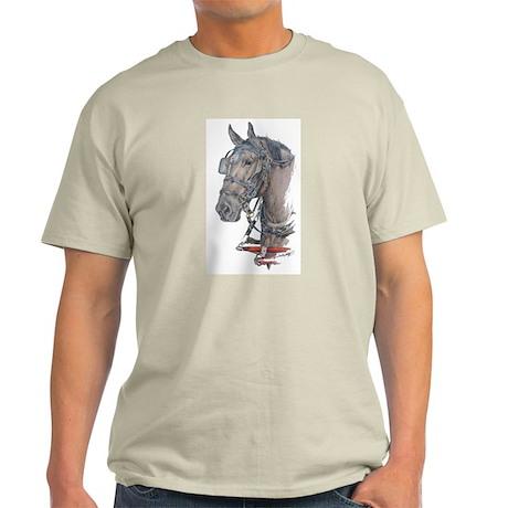 Percheron Draft horse harness Light T-Shirt