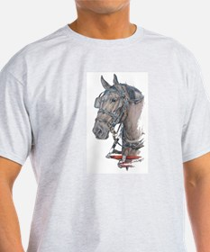 Percheron Draft horse harness T-Shirt
