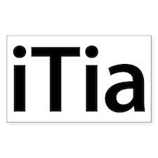 iTia Rectangle Decal